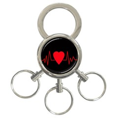 Hart bit 3-Ring Key Chains