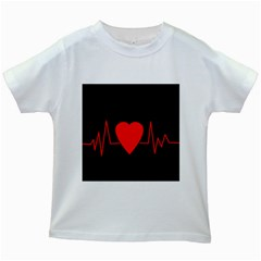 Hart bit Kids White T-Shirts