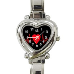 Hart bit Heart Italian Charm Watch