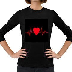 Hart bit Women s Long Sleeve Dark T-Shirts