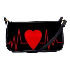 Hart bit Shoulder Clutch Bags
