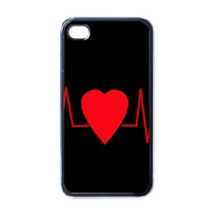 Hart bit Apple iPhone 4 Case (Black)