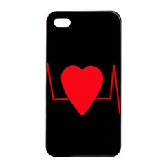 Hart bit Apple iPhone 4/4s Seamless Case (Black)