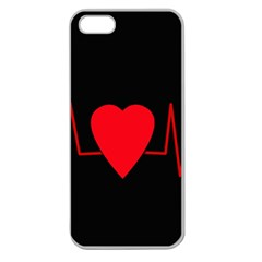 Hart bit Apple Seamless iPhone 5 Case (Clear)