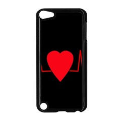 Hart bit Apple iPod Touch 5 Case (Black)