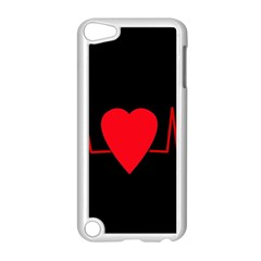 Hart bit Apple iPod Touch 5 Case (White)
