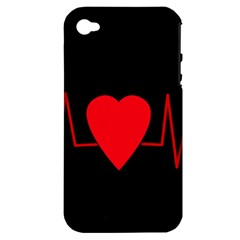 Hart bit Apple iPhone 4/4S Hardshell Case (PC+Silicone)