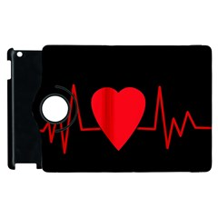 Hart bit Apple iPad 2 Flip 360 Case