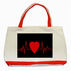 Hart Bit Classic Tote Bag (red) by Valentinaart