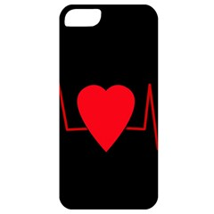 Hart Bit Apple Iphone 5 Classic Hardshell Case by Valentinaart