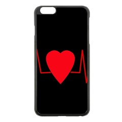 Hart Bit Apple Iphone 6 Plus/6s Plus Black Enamel Case by Valentinaart