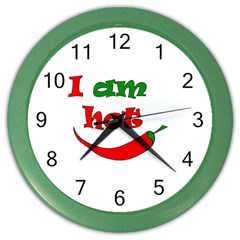 I Am Hot  Color Wall Clocks by Valentinaart