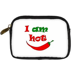 I Am Hot  Digital Camera Cases by Valentinaart