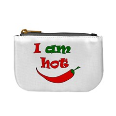 I Am Hot  Mini Coin Purses by Valentinaart