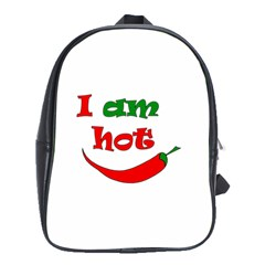 I Am Hot  School Bags(large)  by Valentinaart