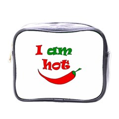 I Am Hot  Mini Toiletries Bags by Valentinaart