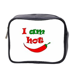 I Am Hot  Mini Toiletries Bag 2 Side by Valentinaart
