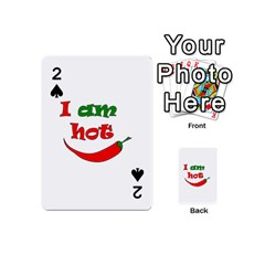 I Am Hot  Playing Cards 54 (mini)  by Valentinaart