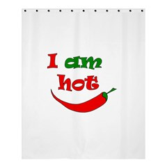 I Am Hot  Shower Curtain 60  X 72  (medium)  by Valentinaart