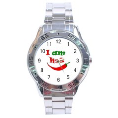 I am hot  Stainless Steel Analogue Watch