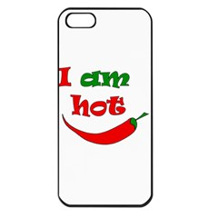 I am hot  Apple iPhone 5 Seamless Case (Black)