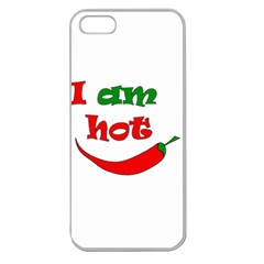 I am hot  Apple Seamless iPhone 5 Case (Clear)