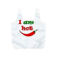 I Am Hot  Full Print Recycle Bags (s)  by Valentinaart