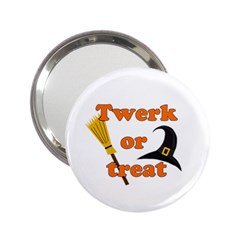 Twerk Or Treat   Funny Halloween Design 2 25  Handbag Mirrors by Valentinaart
