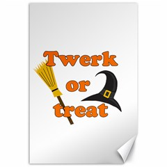 Twerk Or Treat - Funny Halloween Design Canvas 24  X 36  by Valentinaart