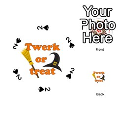 Twerk Or Treat   Funny Halloween Design Playing Cards 54 (round)  by Valentinaart