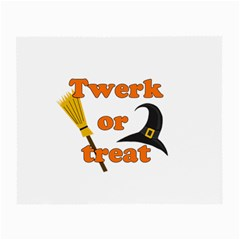 Twerk Or Treat   Funny Halloween Design Small Glasses Cloth (2 Side) by Valentinaart
