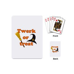 Twerk Or Treat   Funny Halloween Design Playing Cards (mini)  by Valentinaart