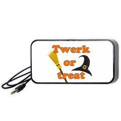 Twerk Or Treat   Funny Halloween Design Portable Speaker (black)  by Valentinaart
