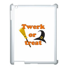 Twerk Or Treat   Funny Halloween Design Apple Ipad 3/4 Case (white) by Valentinaart