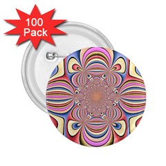 Pastel Shades Ornamental Flower 2 25  Buttons (100 Pack)  by designworld65