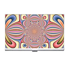 Pastel Shades Ornamental Flower Business Card Holders by designworld65