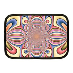 Pastel Shades Ornamental Flower Netbook Case (medium)  by designworld65