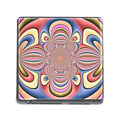 Pastel Shades Ornamental Flower Memory Card Reader (square) by designworld65