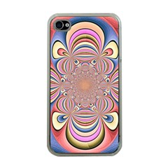 Pastel Shades Ornamental Flower Apple Iphone 4 Case (clear) by designworld65