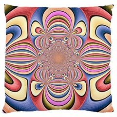 Pastel Shades Ornamental Flower Large Cushion Case (one Side) by designworld65