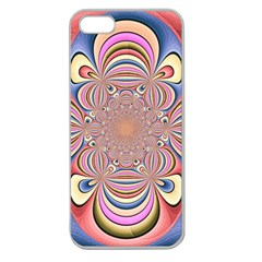 Pastel Shades Ornamental Flower Apple Seamless Iphone 5 Case (clear) by designworld65