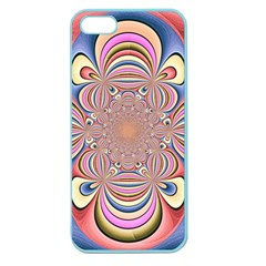 Pastel Shades Ornamental Flower Apple Seamless Iphone 5 Case (color) by designworld65