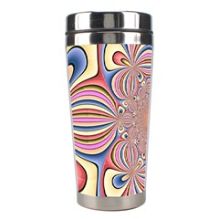 Pastel Shades Ornamental Flower Stainless Steel Travel Tumblers by designworld65