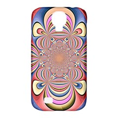 Pastel Shades Ornamental Flower Samsung Galaxy S4 Classic Hardshell Case (pc+silicone) by designworld65