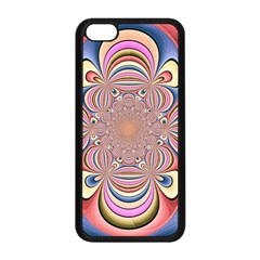 Pastel Shades Ornamental Flower Apple Iphone 5c Seamless Case (black) by designworld65