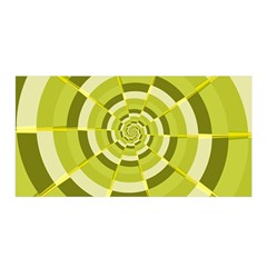 Crazy Dart Green Gold Spiral Satin Wrap by designworld65