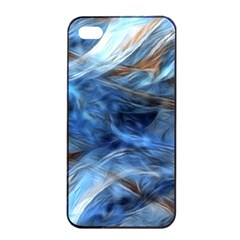 Blue Colorful Abstract Design  Apple Iphone 4/4s Seamless Case (black) by designworld65