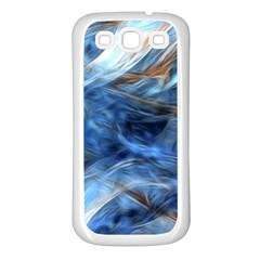 Blue Colorful Abstract Design  Samsung Galaxy S3 Back Case (white) by designworld65