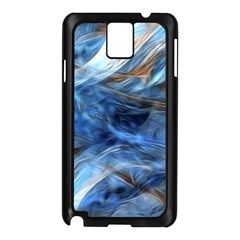 Blue Colorful Abstract Design  Samsung Galaxy Note 3 N9005 Case (black) by designworld65