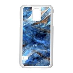 Blue Colorful Abstract Design  Samsung Galaxy S5 Case (white) by designworld65